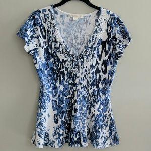 Boston Proper Short Sleeve Top Embellished Size S